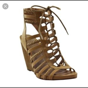 Lace up wedge. Size 8 1/2